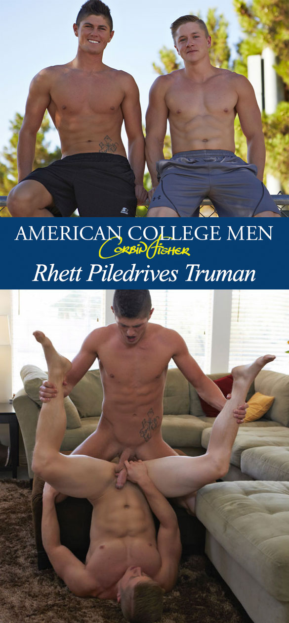 Corbin Fisher: Rhett creams Truman's tight hole