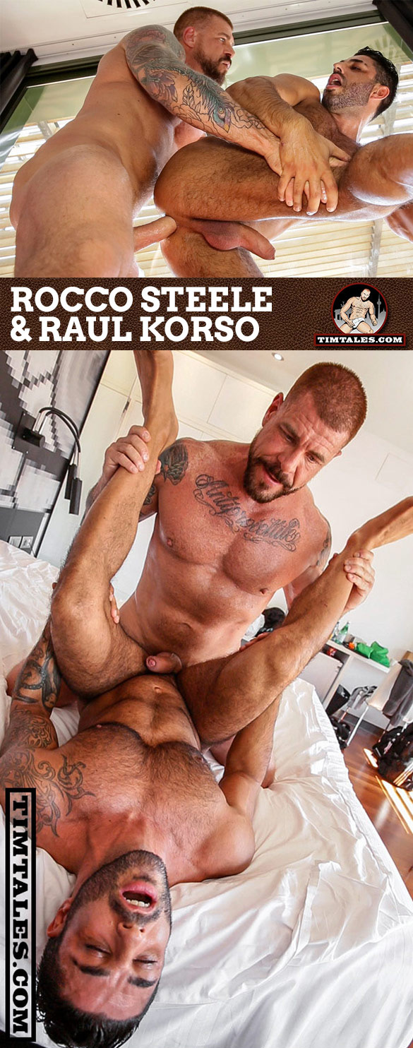 TimTales: Raul Korso takes Rocco Steele's massive cock raw