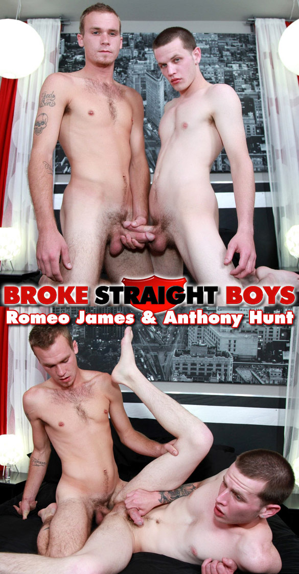 Broke Straight Boys: Romeo James barebacks Anthony Hunt