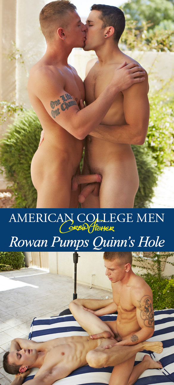 Corbin Fisher: Rowan barebacks Quinn