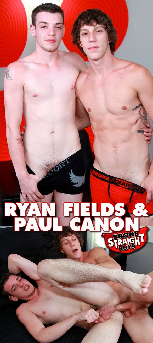Broke Straight Boys: Paul Canon fucks Ryan Fields' tight ass bareback