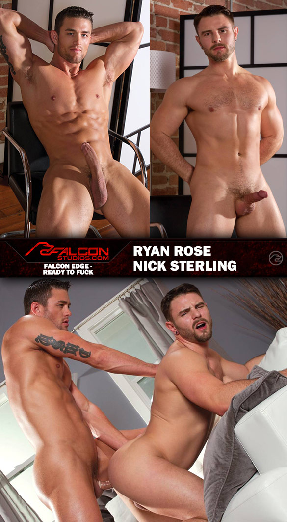 """Falcon Studios: Ryan Rose and Nick Sterling bang each other in """"Ready To Fuck"""""""