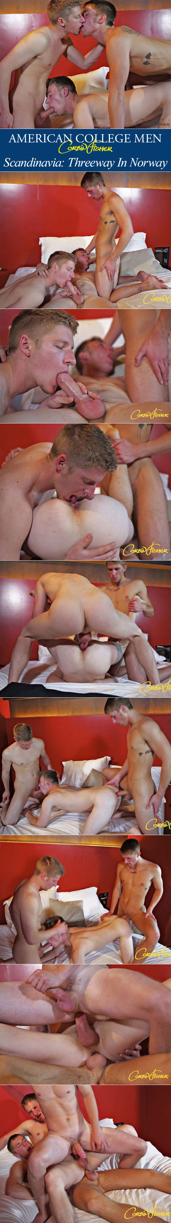 Corbin Fisher: Josh, Trenton and Brayden's raw threeway