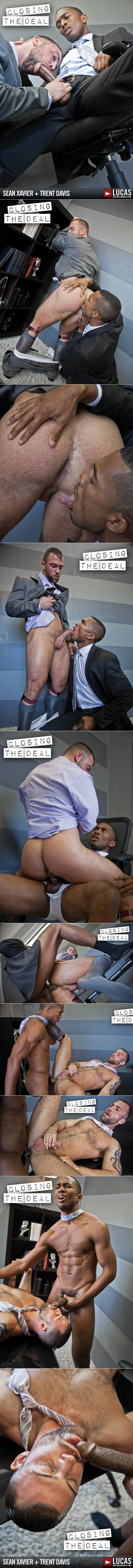 "Lucas Entertainment: Sean Xavier fucks Trent Davis in ""Gentlemen 09: Closing the Deal"""