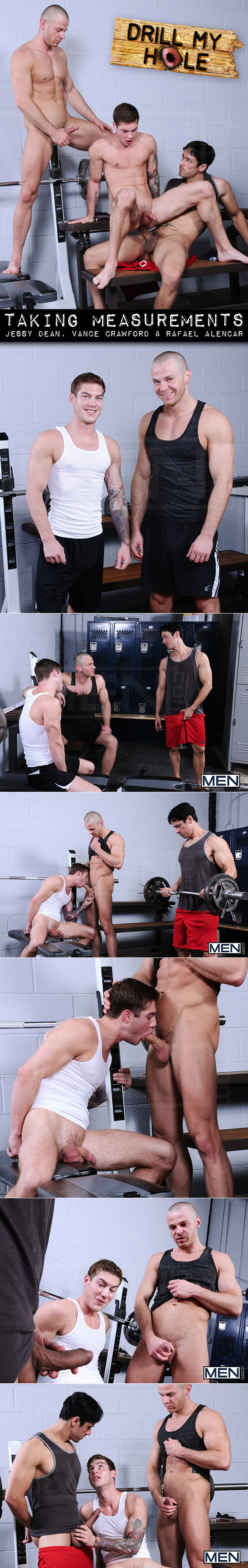 "Men.com: Rafael Alencar, Vance Crawford and Jessy Dean in ""Taking Measurements"""