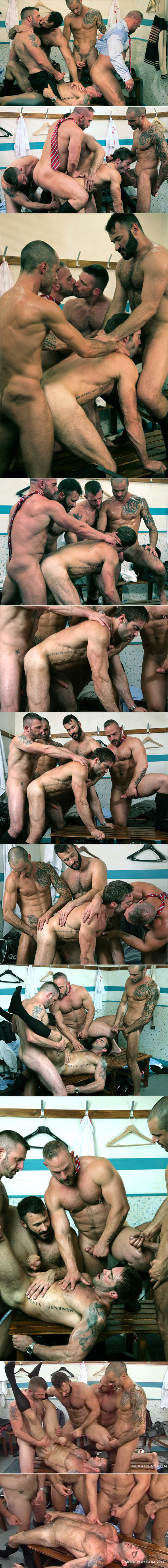 "MenAtPlay: Jake Genesis, Issac Jones, Wilfried Knight, Samuel Colt and Morgan Black in ""The Game"""