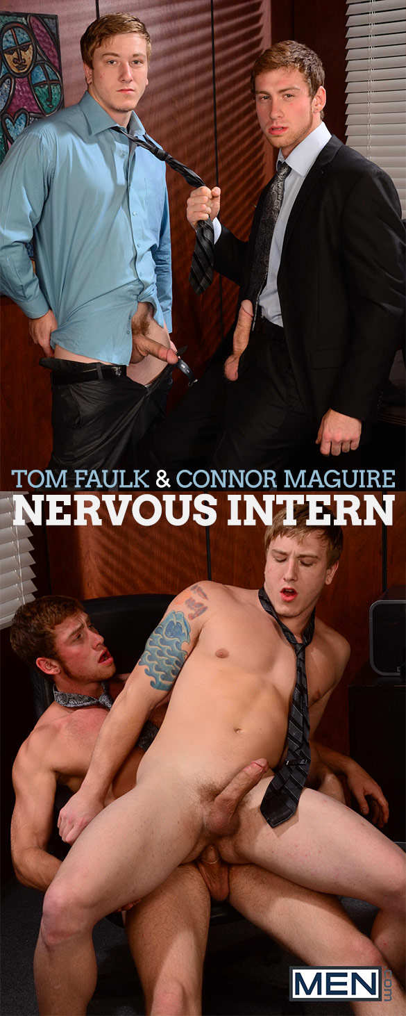 "Men.com: Tom Faulk gets fucked by Connor Maguire in ""Nervous Intern"""