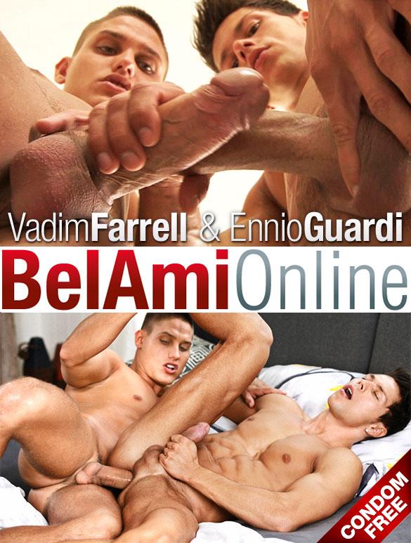 BelAmi: Vadim Farrell barebacks Ennio Guardi