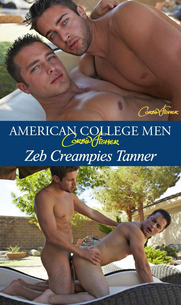 Corbin Fisher: Zeb creampies Tanner