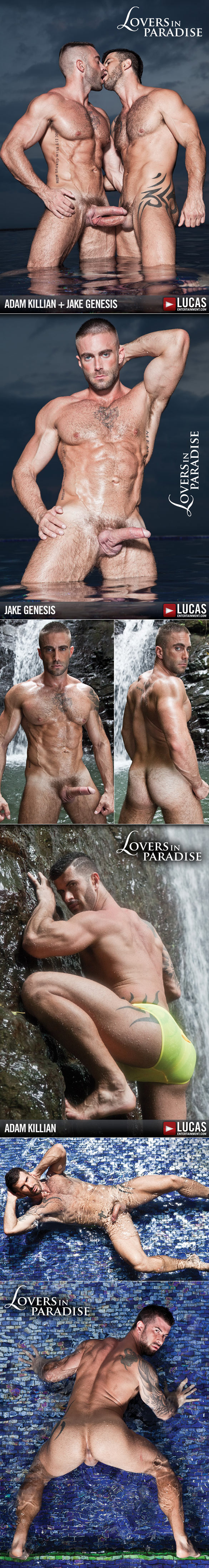 "Lucas Entertainment: Adam Killian fucks Jake Genesis in ""Lovers in Paradise"""