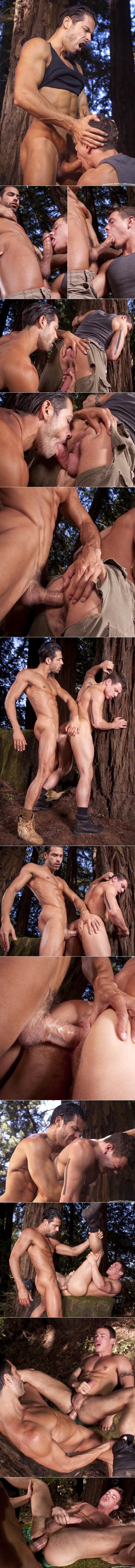 """Raging Stallion: Jesse Santana gets fucked by D.O. in """"The Woods: Part 2"""""""