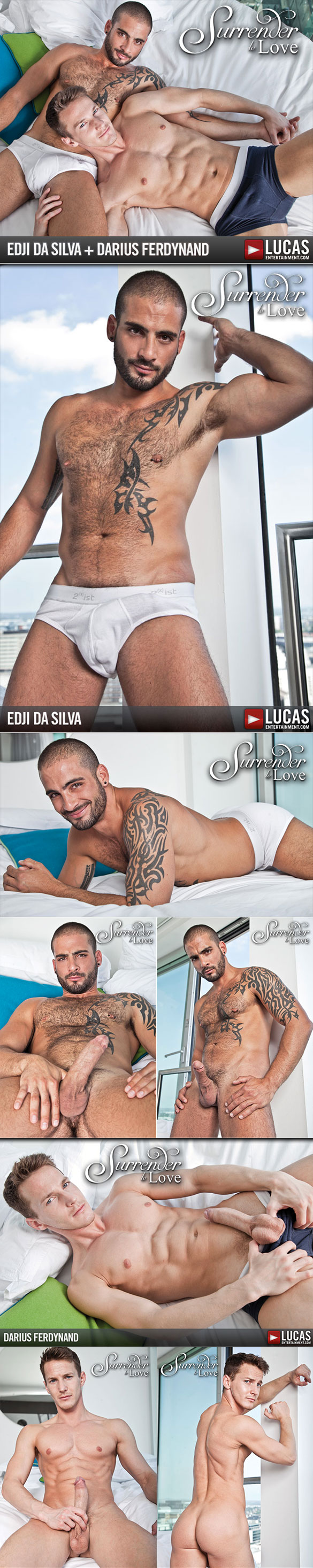"Lucas Entertainment: Darius Ferdynand gets fucked by Edji Da Silva in ""Surrender to Love"""