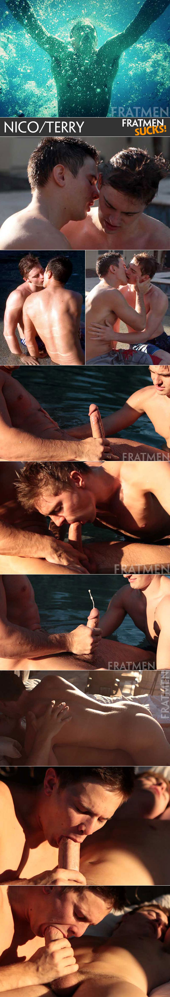 Fratmen Sucks: Nico and Terry suck each other off