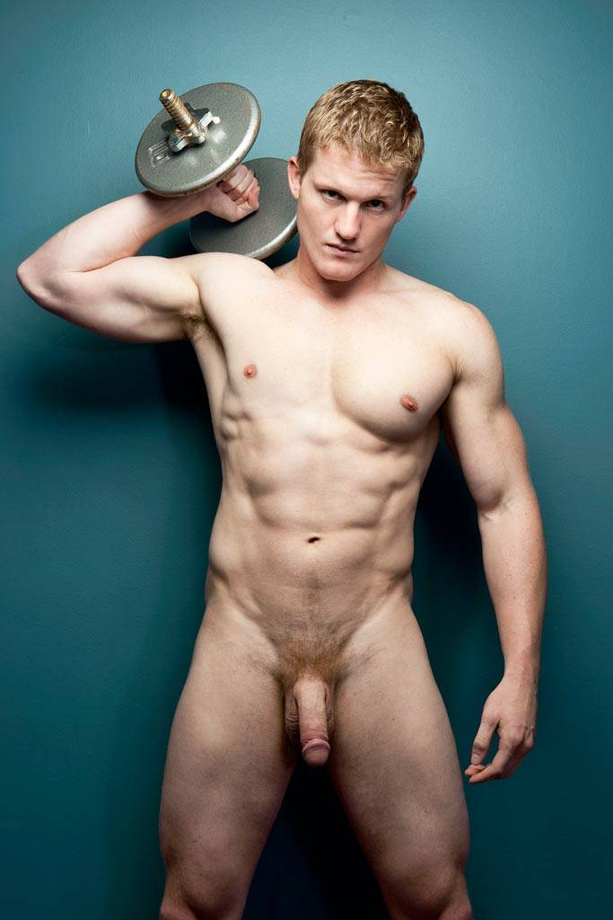 Naked red headed guy
