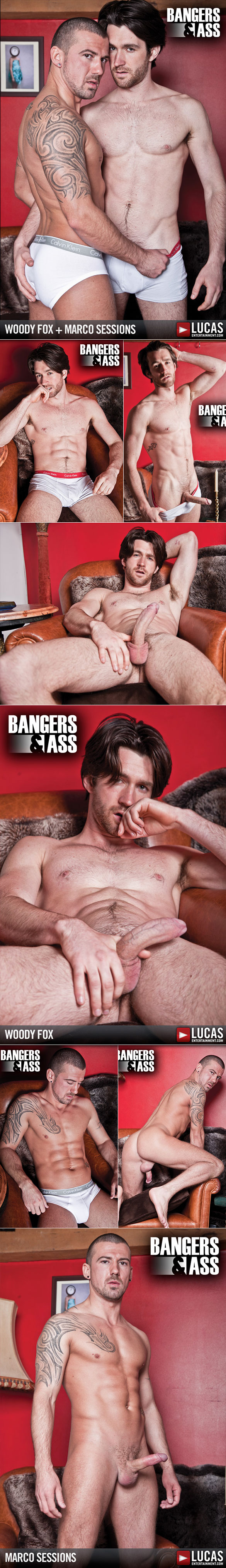 "Lucas Entertainment: Woody Fox bangs Marco Sessions in ""Bangers & Ass"""
